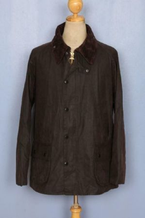 BARBOUR Bedale Waxed Jacket Brown Size 42 Large